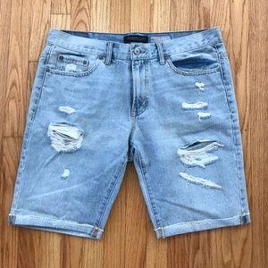 Aeropostale Thrashed Denim Shorts